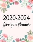 2020-2024 Five Year Planner: 60 Months Watercolor Flower, Monthly Schedule Organizer Planner For To Do List Academic Schedule Agenda Logbook, Perso Cover Image