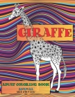Adult Coloring Book Art Nouveau - Animal - Giraffe Cover Image