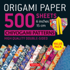Origami Paper 500 Sheets Chiyogami Patterns 6 15cm: Tuttle Origami Paper: High-Quality Double-Sided Origami Sheets Printed with 12 Different Designs ( Cover Image
