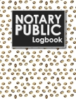 Notary Public Logbook: Notarial Record, Notary Paper Format, Notary Ledger, Notary Record Book Cover Image