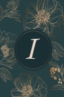 I: Initial Monogram Notebook, Monogram Journal, Initial Notepad, 100 Pages Cover Image