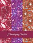 Housekeeping Checklist: Red Color Flowers, Household Chores List, Cleaning Routine Weekly Cleaning Checklist Large Size 8.5