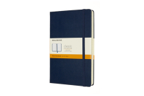 Moleskine Notebook, Expanded, Large, Ruled, Sapphire Blue, Hard Cover (5 x 8.25) Cover Image