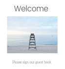 Guest Book with lined pages (Hardcover): Guest book, air bnb book, visitors book, holiday home, comments book, holiday cottage, rental, vacation guest Cover Image