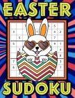 Easter Sudoku: Sudoku Puzzles Game Book with Solutions for Kids, Teens, Seniors, Adults - One Puzzle Per Page - Large Print - Striped Cover Image