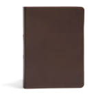 CSB She Reads Truth Bible, Brown Genuine Leather Cover Image