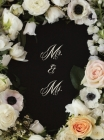 Mr. & Ms. Flowered Wedding Guest Book Cover Image