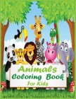 Animals Coloring Book For Kids: Animals Coloring Book for Kids Ages 2-4, 4-8, Boys and Girls, Cute rat, wolf, bee, ant, shark, butterfly Cover Image