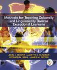 Methods for Teaching Culturally and Linguistically Diverse Exceptional Learners Cover Image