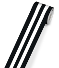 Industrial Chic Black & White Stripes Rolled Straight Borders Cover Image