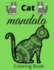 Cat mandala coloring book: Mandala coloring Book for kids and toddlers -Green color cover-pages 62-8.5 / 11 inches- Cover Image