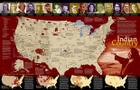 National Geographic: Indian Country Wall Map (31.25 X 20.25 Inches) (National Geographic Reference Map) Cover Image