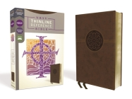 Nrsv, Thinline Reference Bible, Leathersoft, Brown, Comfort Print Cover Image