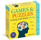 Games and Puzzles to Keep Your Brain Young Page-A-Day Calendar for 2022 Cover Image