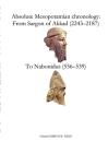 Absolute Mesopotamian chronology: From Sargon of Akkad (2243-2187) to Nabonidus (556-539) Cover Image