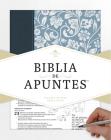 RVR 1960 Biblia de apuntes - Azul - Piel genuina y tela impresa Cover Image