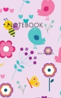 Notebook: bird bee children floral flowers kids retro spring nature animals Cover Image
