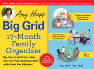 2022 Amy Knapp's Big Grid Family Organizer Wall Calendar: August 2021-December 2022 Cover Image