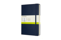 Moleskine Notebook, Expanded, Large, Plain, Sapphire Blue, Hard Cover (5 x 8.25) Cover Image