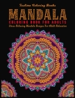 Mandala Coloring Book For Adults: ( Black Background ) Coloring Pages For Meditation And Happiness Adult Coloring Book Featuring Calming Mandalas desi Cover Image