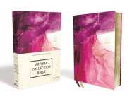 Niv, Artisan Collection Bible, Cloth Over Board, Pink, Art Gilded Edges, Red Letter Edition, Comfort Print Cover Image
