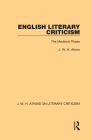 English Literary Criticism: The Medieval Phase Cover Image