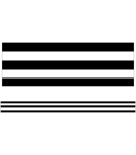Industrial Chic Black & White Stripes Straight Borders Cover Image
