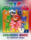 PJ Masks Coloring Book Vol1: Funny Coloring Book With 40 Images For Kids of all ages. Cover Image