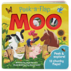 Moo: Chunky Peek a Flap Board Book (Peek-A-Flap) Cover Image