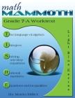 Math Mammoth Grade 7-A Worktext Cover Image