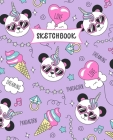 Sketchbook: Panda Unicorn Sketch Book for Kids - Practice Drawing and Doodling - Sketching Book for Toddlers & Tweens Cover Image