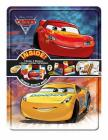 Disney Pixar Cars 3 Collector's Tin [With 1 Coloring Book, 2 Activity Books and Over 50 Super Stickers and Double-Sided Poster and 4 Ma (Happy Tin) Cover Image