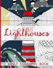 Lighthouses - Adult Coloring Book Cover Image