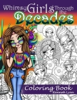 Whimsy Girls Through the Decades Coloring Book Cover Image