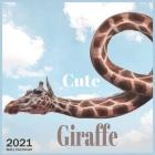 Cute Giraffe: 2021 Wall & Office Calendar, 12 Month Calendar Cover Image