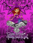 Cute Witch Coloring Book for girls Cover Image