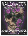 Halloween Midnight Edition: Adult Coloring Book with Beautiful Flowers, Adorable Animals, Spooky Characters, and Relaxing Fall Designs Volume 2 Cover Image