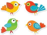 Boho Birds Shape Stickers Cover Image