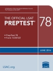 The Official LSAT Preptest 78: (june 2016 Lsat) Cover Image