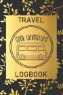Seek Adventure: Travel Logbook: Camping Keepsake Diary Notebook For Full Time RVers: Gold Leaf Floral Design Cover Image