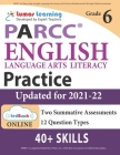 PARCC Test Prep: Grade 6 English Language Arts Literacy (ELA) Practice Workbook and Full-length Online Assessments: PARCC Study Guide Cover Image