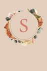 S: Peach Monogram Sketchbook - 110 Sketchbook Pages (6 x 9) - Floral Watercolor Monogram Sketch Notebook - Personalized I Cover Image