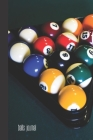balls journal: small lined Billiards Notebook / Travel Journal to write in (6'' x 9'') 120 pages Cover Image