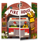 Friends at the Firehouse: Double Booked: 35 lift-the-flaps inside! (Firefighter Board Books; Firetruck Books for Toddlers) Cover Image