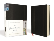 NIV, Journal the Word Bible, Hardcover, Black, Red Letter Edition, Comfort Print: Reflect, Take Notes, or Create Art Next to Your Favorite Verses Cover Image