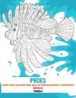 Libros para colorear para adultos para bolígrafos y marcadores - Mandala - Animales - Peces Cover Image