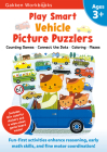 Play Smart Vehicle Picture Puzzlers Age 3+: At-home Activity Workbook Cover Image