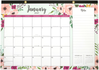 2021 Floral Desk Calendar Pad (with Stickers) Cover Image