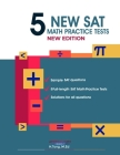 5 New SAT Math Practice Tests Book Cover Image
