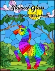Stained Glass Coloring Book For Adults: An Adult Coloring Book with 50 Inspirational Window Designs and Easy Patterns for Relaxation Cover Image